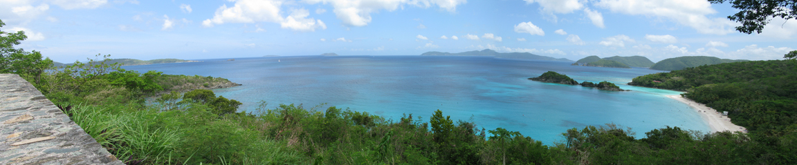 Trunk Bay Panorama from Centerline Road Picture