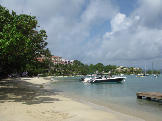 The shoreline at Cruz Bay before departing to St. Thomas Picture
